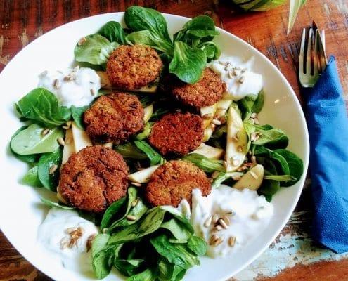 Vegane Falafel vom Marae - dem veganen Café in Lübeck